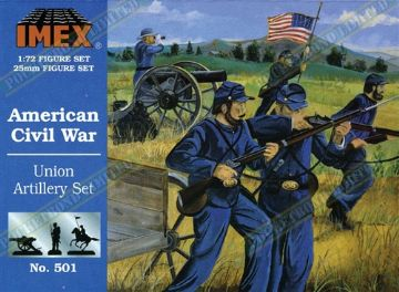 IMEX501 American Civil War Union Artillery Set 1:72 Scale
